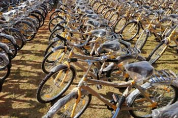 Transport Minister Hands Over 249 Bicycles to SA Learners